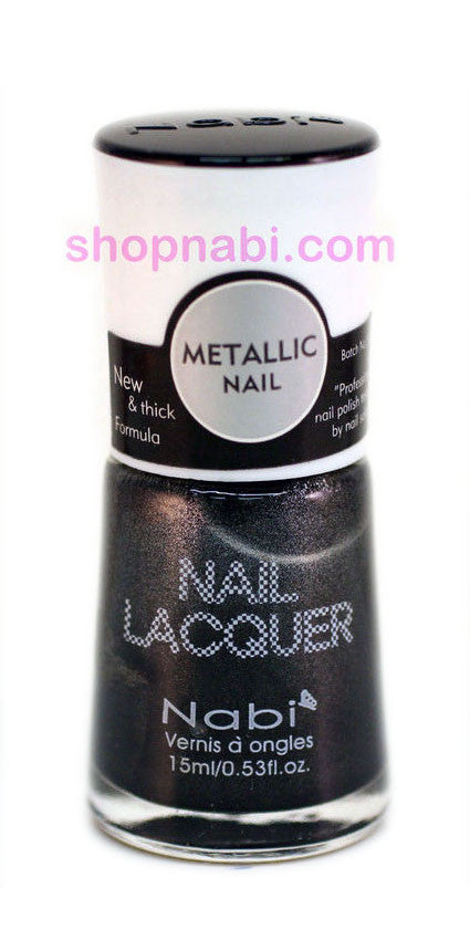 Nabi Metallic Nail Polish no.130 Metallic Charcoal