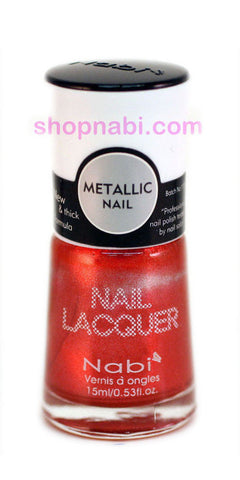Nabi Metallic Nail Polish no.133 Metallic Coral