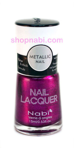 Nabi Metallic Nail Polish no.134 Metallic Fuschia