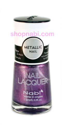 Nabi Metallic Nail Polish no.135 Metallic Purple