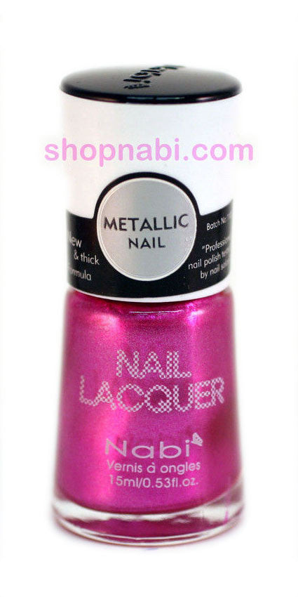 Nabi Metallic Nail Polish no.137 Metallic Pink