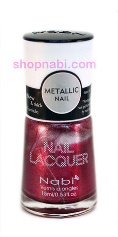 Nabi Metallic Nail Polish no.139 Metallic Red