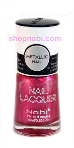 Nabi Metallic Nail Polish no.142 Metallic Wine