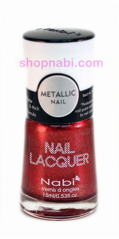 Nabi Metallic Nail Polish no.143 Metallic Red Wine