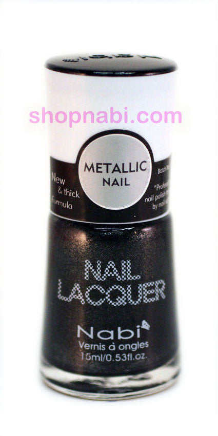 Nabi Metallic Nail Polish no.148 Metallic Black
