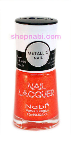 Nabi Metallic Nail Polish no.149 Metallic Orange