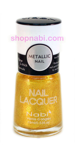 Nabi Metallic Nail Polish no.151 Metallic New Gold
