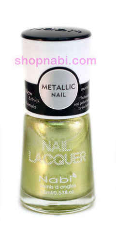 Nabi Metallic Nail Polish no.152 Metallic Lime