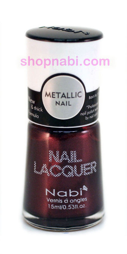 Nabi Metallic Nail Polish no.156 Metallic Black Brown