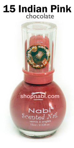 Nabi Scented Nail Polish No.15 Indian Pink (chocolate scent)