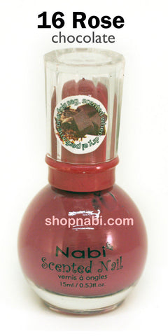 Nabi Scented Nail Polish No.16 Rose (chocolate scent)