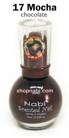 Nabi Scented Nail Polish No.17 Mocha (chocolate scent)
