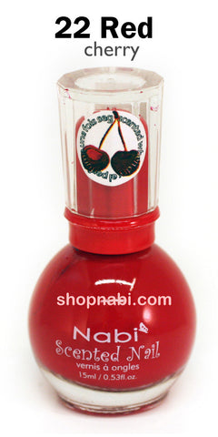 Nabi Scented Nail Polish No.22 Red (cherry scent)