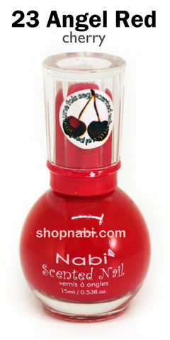 Nabi Scented Nail Polish No.23 Angel Red (cherry scent)