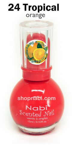 Nabi Scented Nail Polish No.24 Tropical (orange scent)