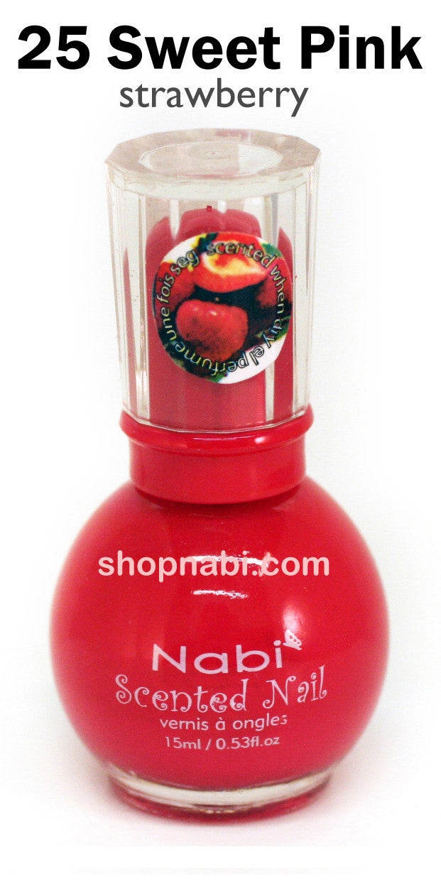 Nabi Scented Nail Polish No.25 Sweet Pink (strawberry scent ...