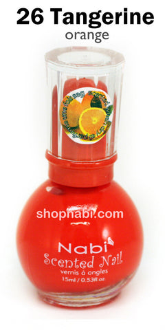 Nabi Scented Nail Polish No.26 Tangerine (orange scent)