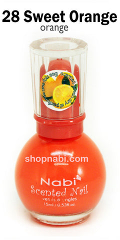 Nabi Scented Nail Polish No.28 Sweet Orange (orange scent)
