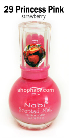 Nabi Scented Nail Polish No.29 Princess Pink (strawberry scent)