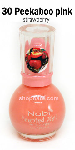 Nabi Scented Nail Polish No.30 Peek A Boo Pink (strawberry scent)