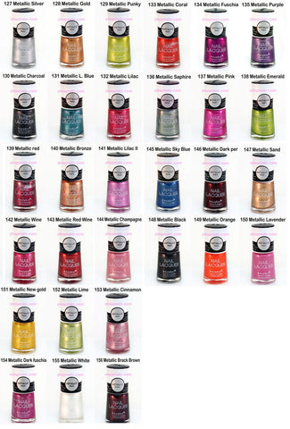 30pcs Nabi Metallic nail polish