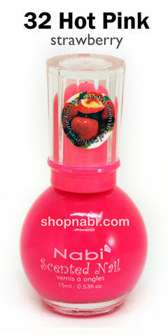 Nabi Scented Nail Polish No.32 Hot Pink (strawberry scent)