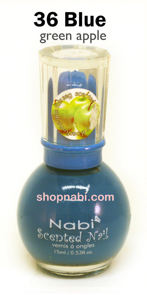 Nabi Scented Nail Polish No.36 Blue (green apple scent)