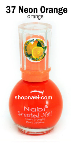 Nabi Scented Nail Polish No.37 Neon Orange (orange scent)