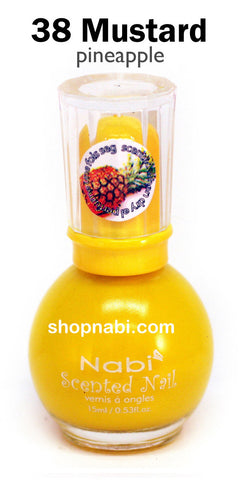 Nabi Scented Nail Polish No.38 Mustard (pineapple scent)