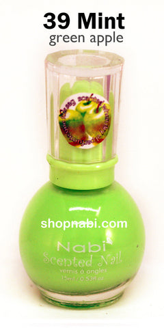 Nabi Scented Nail Polish No.39 Mint (green apple scent)
