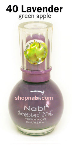 Nabi Scented Nail Polish No.40 Lavender (green apple scent)