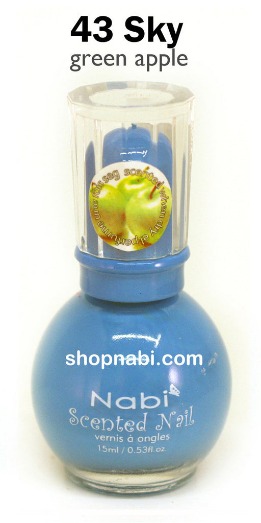 Nabi Scented Nail Polish No.43 Sky (green apple scent)
