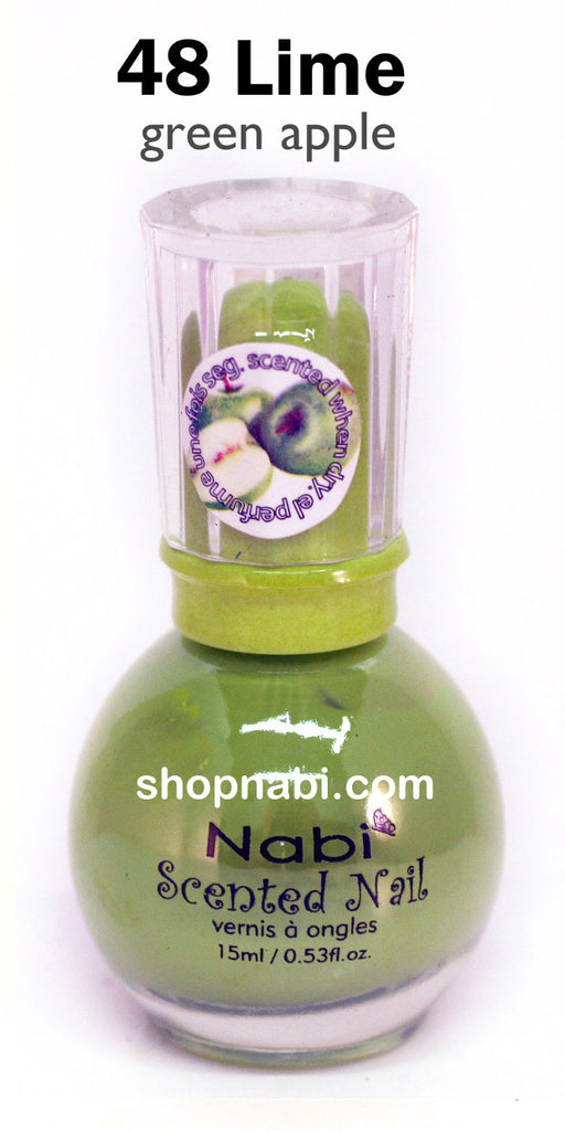 Nabi Scented Nail Polish No.48 Lime (Greenapple scent)