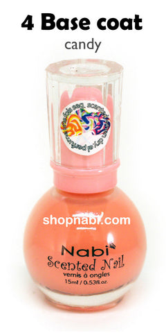 Nabi Scented Nail Polish No.4 Base Coat (candy scent)
