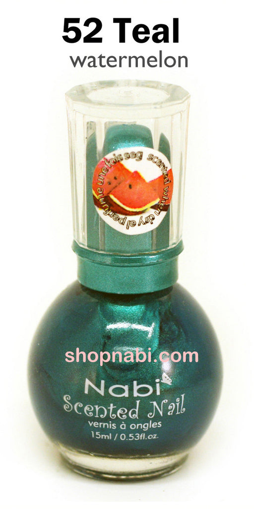 Nabi Scented Nail Polish No.52 Teal (watermelon scent)