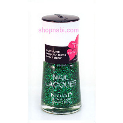 Nabi I Nail Polish no.52 Green Glitter