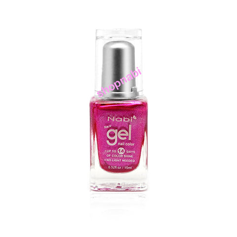 Nabi Gel Nail Polish No.55 Metallic Pink