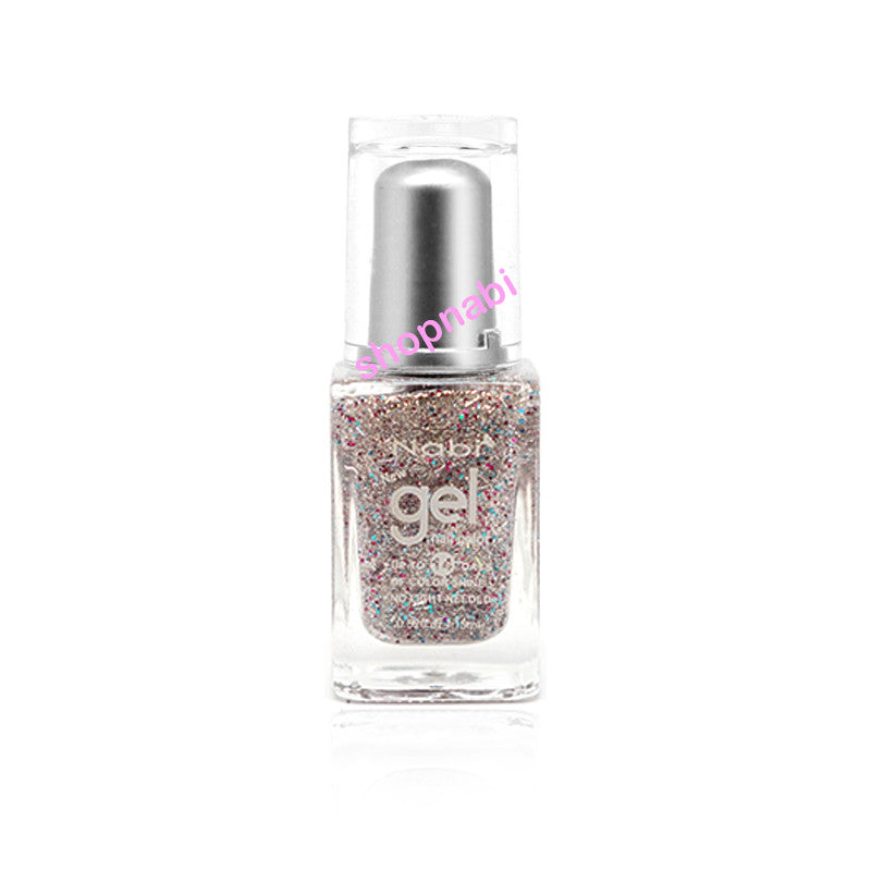 Nabi Gel Nail Polish No.83 New Silver Glitter