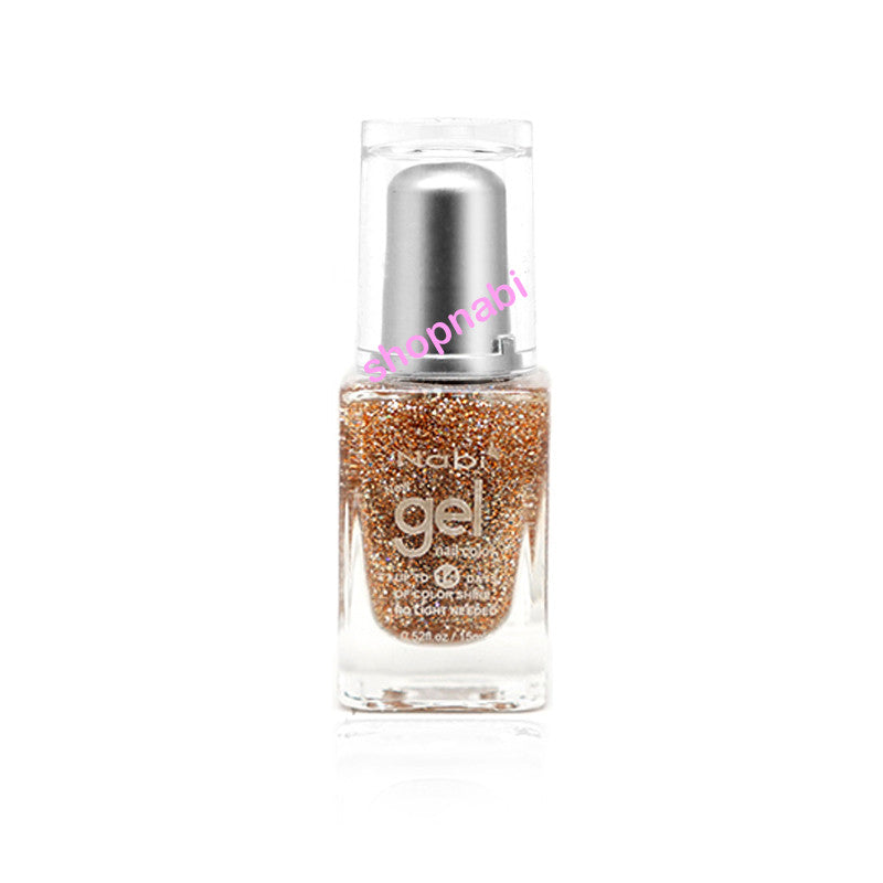 Nabi Gel Nail Polish No.87 Gold Round Glitter