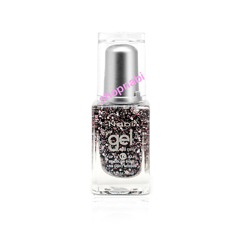 Nabi Gel Nail Polish No.96 Pink Flake