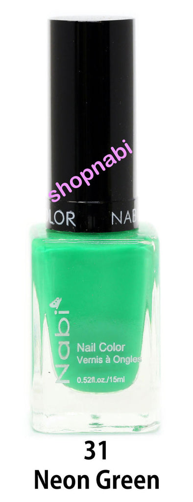 Nabi V Nail Polish no.31 Neon Green