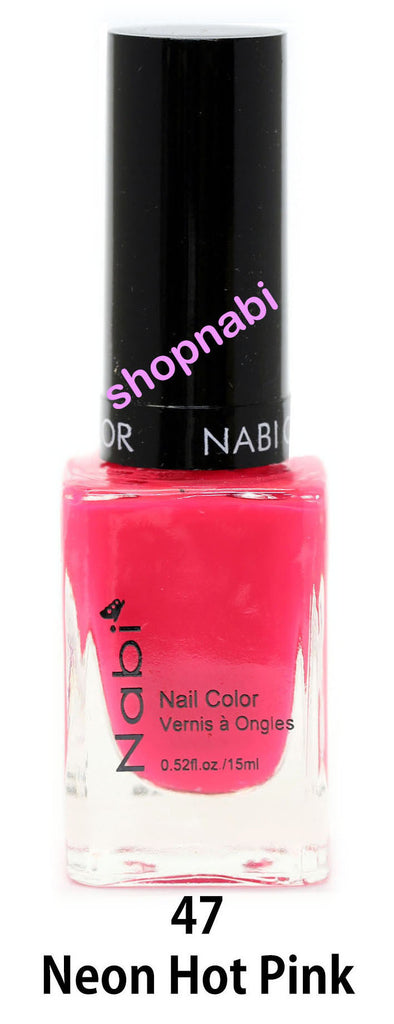 Nabi V Nail Polish no.47 Neon Hot Pink