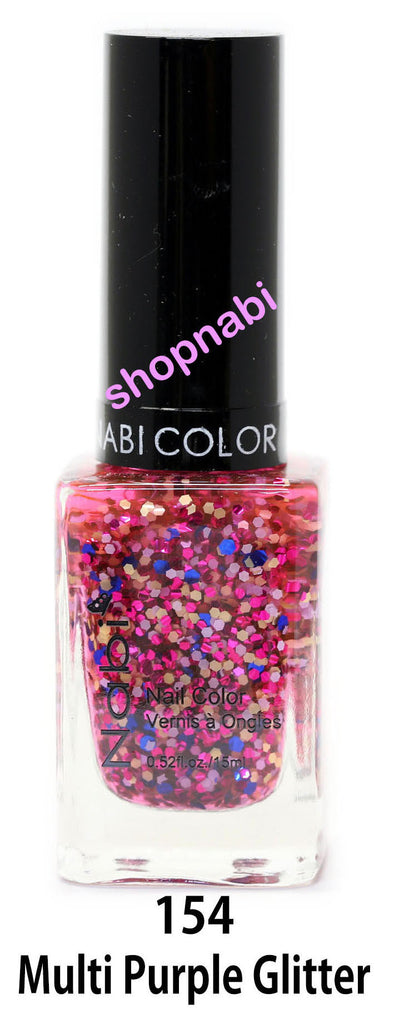 Nabi V Nail Polish no.154 Multi Purple Glitter