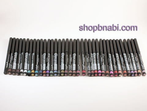 36pcs nabi Retractable Waterproof Eyeliner & Lipliner