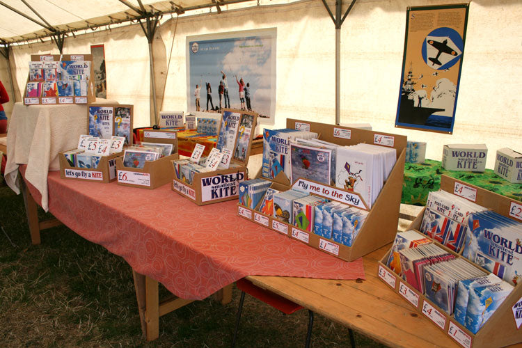 retail display of ready-made kites
