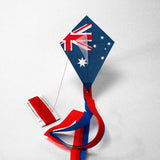 Kite with Australian flag printed on it
