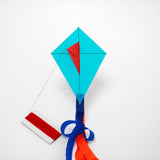 Blue Diamond Kite with postcard