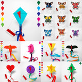 kites counter display medium range, diamond kite, butterfly kite, eagle kite, pig kite, glide kite, globe kite, swallow kite, heart kite, star kite, christmas tree kite