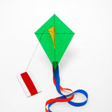 Dark Green Diamond Kite with postcard