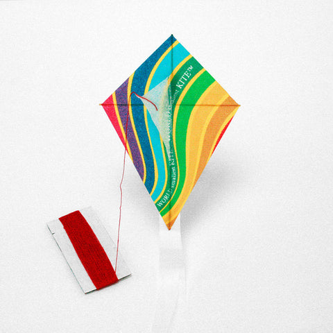 Eco Kite rainbow printed